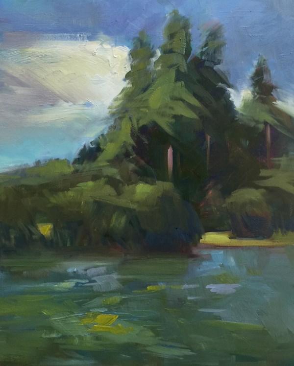 """Bainbridge Rhythm, Blues and Greens"" original fine art by Patti McNutt"