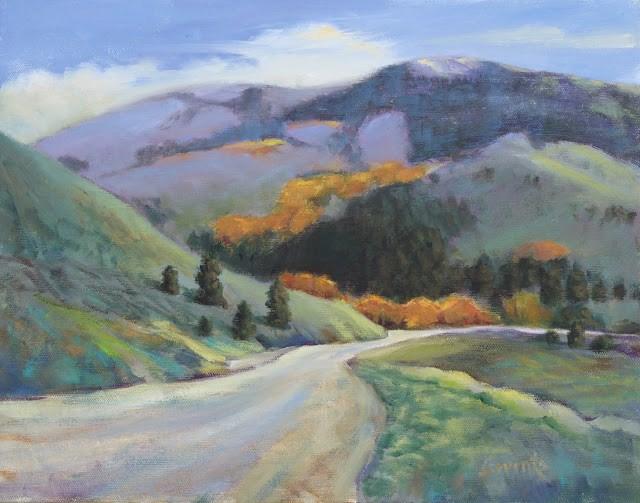 """""""Soldier Mountains Autumn"""" original fine art by Sue Cervenka"""