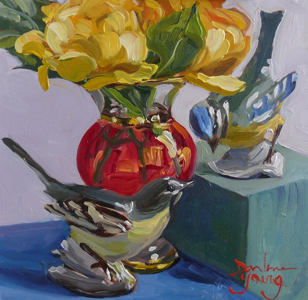 """879 Friendship, oil on board, 6x6"" original fine art by Darlene Young"