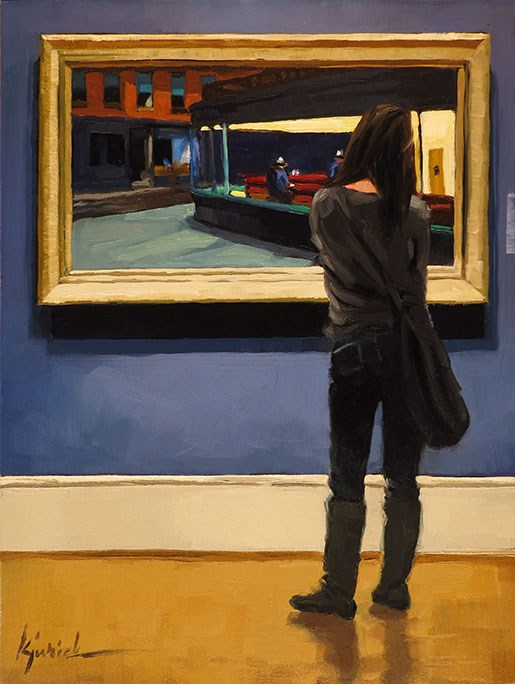 """Hopper"" original fine art by Karin Jurick"