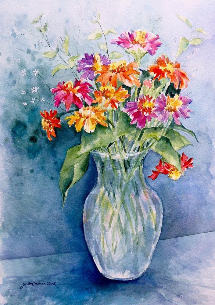 """Garden Offering"" original fine art by Judith Freeman Clark"