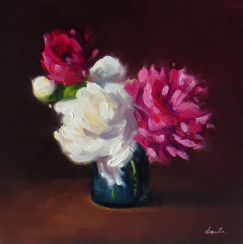 """Still Life with Peonies"" original fine art by Darla McDowell"