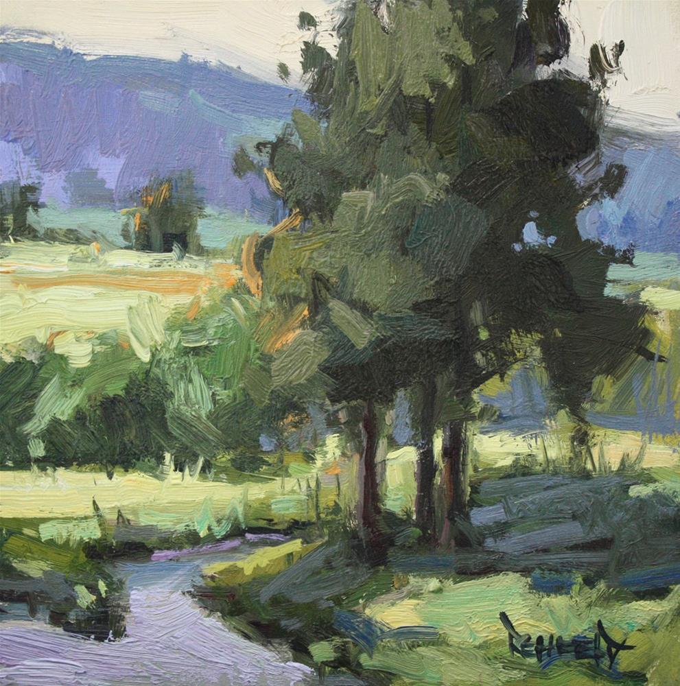 """""""Ponderosa Pines and Blackberries"""" original fine art by Cathleen Rehfeld"""