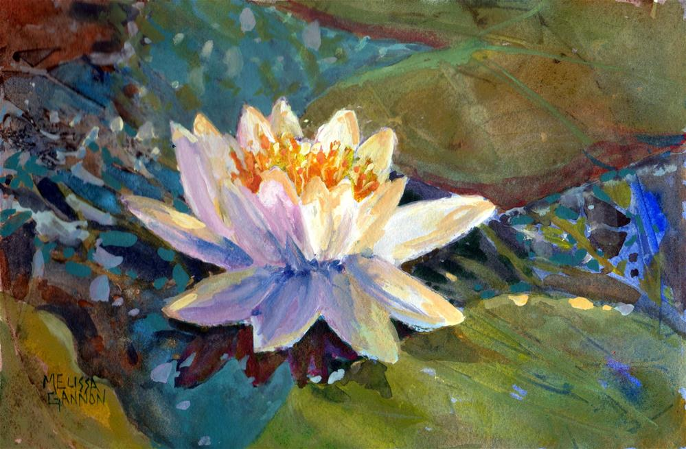 """Waterlily Joy"" original fine art by Melissa Gannon"
