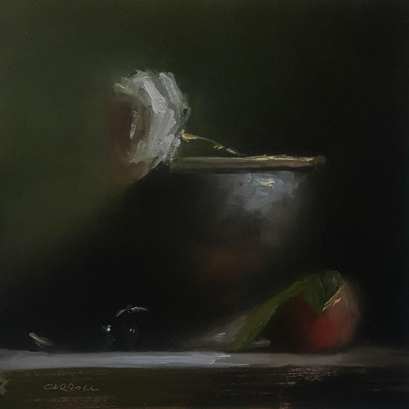 """Arrangement with White Rose"" original fine art by Neil Carroll"