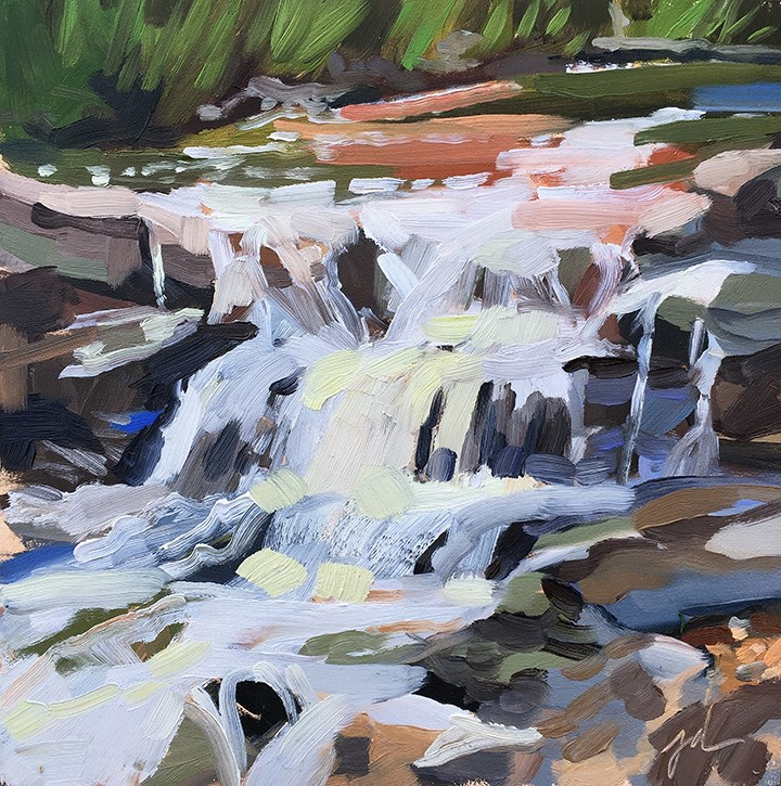 """Santa Fe Waterfall"" original fine art by Jessie Dodington"