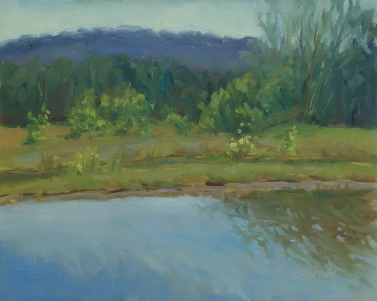 """Trout Lake en Plein air"" original fine art by Daniel Fishback"