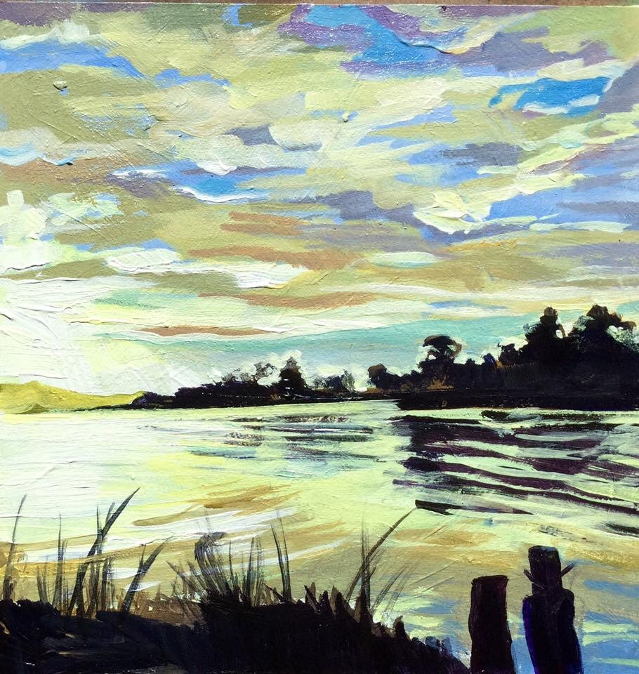 """Bay View"" original fine art by Lauren Kuhn"