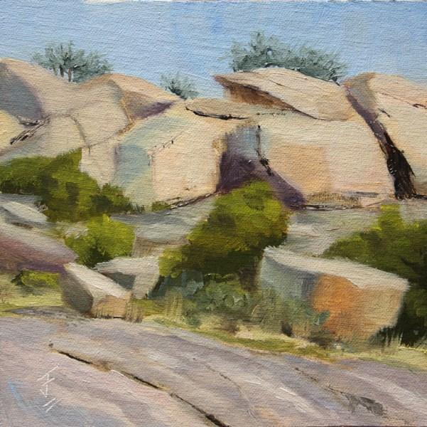 """Enchanted Rocks"" original fine art by Jane Frederick"