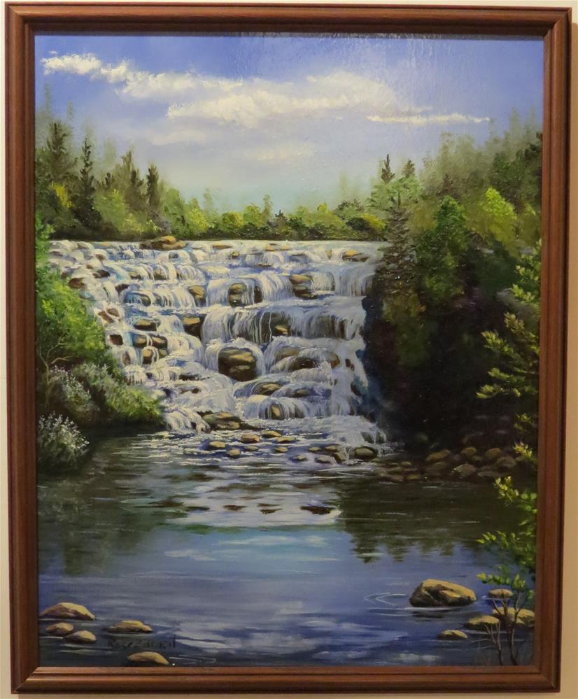 """Bond Falls"" original fine art by Rose Zdrazil"