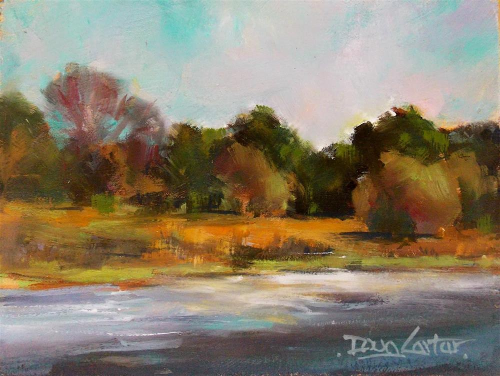 """ Country Stream "" original fine art by Doug Carter"