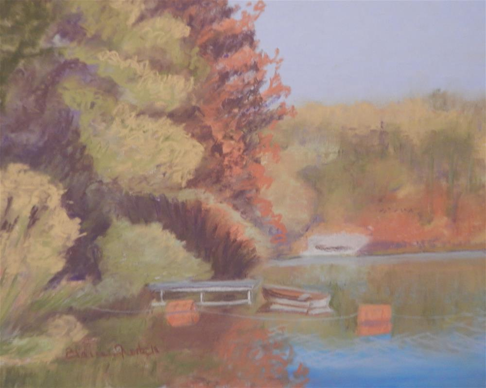 """Lake Roland Rowboat"" original fine art by Elaine Shortall"