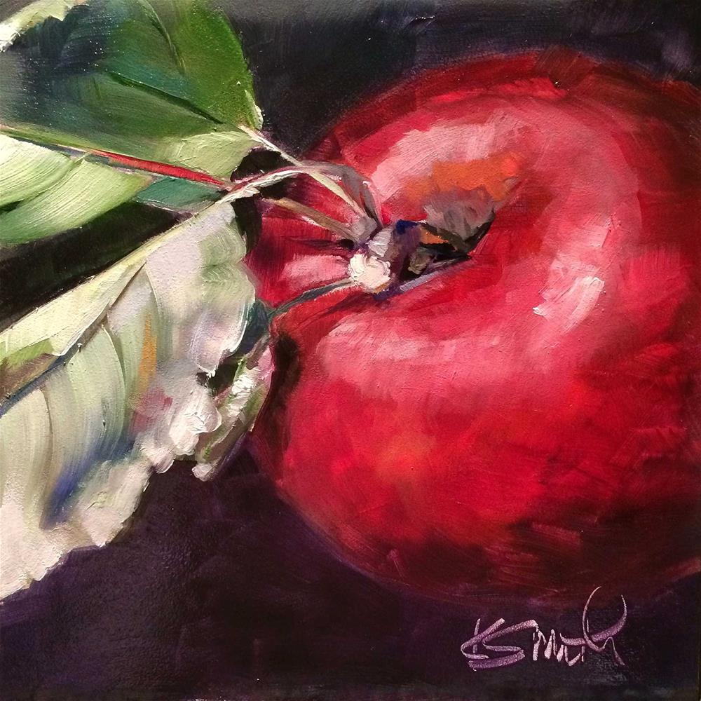 """last of gary's apples"" original fine art by Kim Smith"
