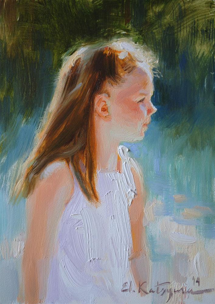 """Summer Portrait"" original fine art by Elena Katsyura"
