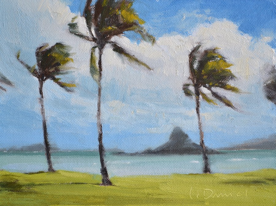 """Chinaman's Hat"" original fine art by Laurel Daniel"