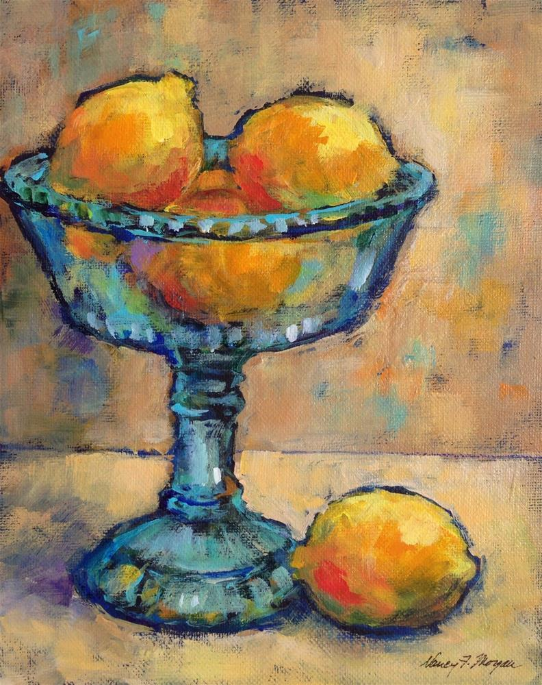 """My Mother's Compote"" original fine art by Nancy F. Morgan"