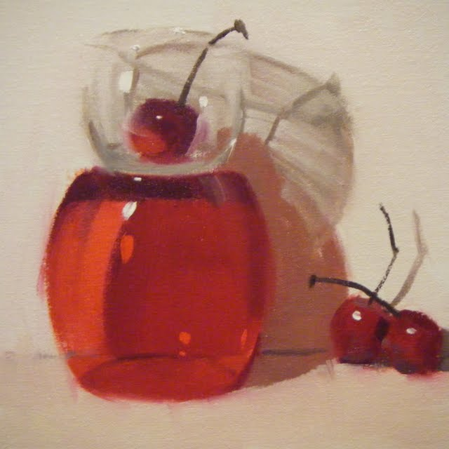 """CHERRY-UP"" original fine art by Helen Cooper"