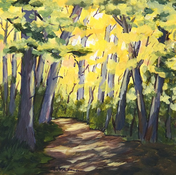 """Autumn Woods"" original fine art by Anna Vreman"