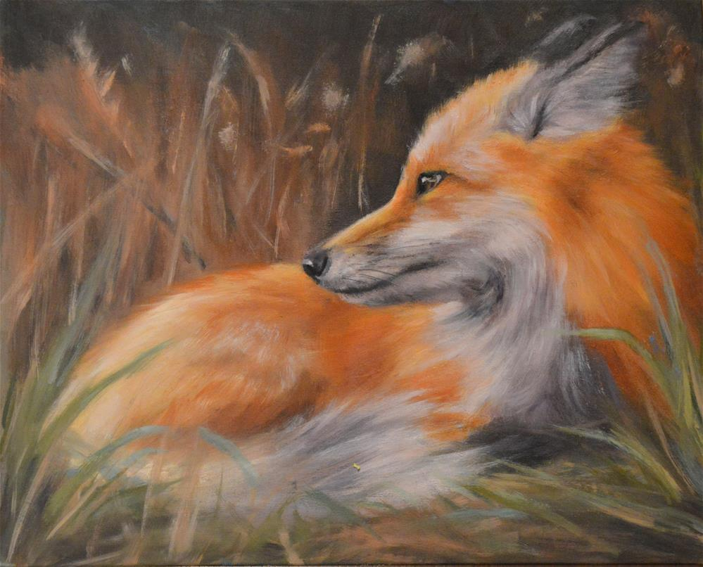 """what does the fox say?"" original fine art by Tracy Klett"