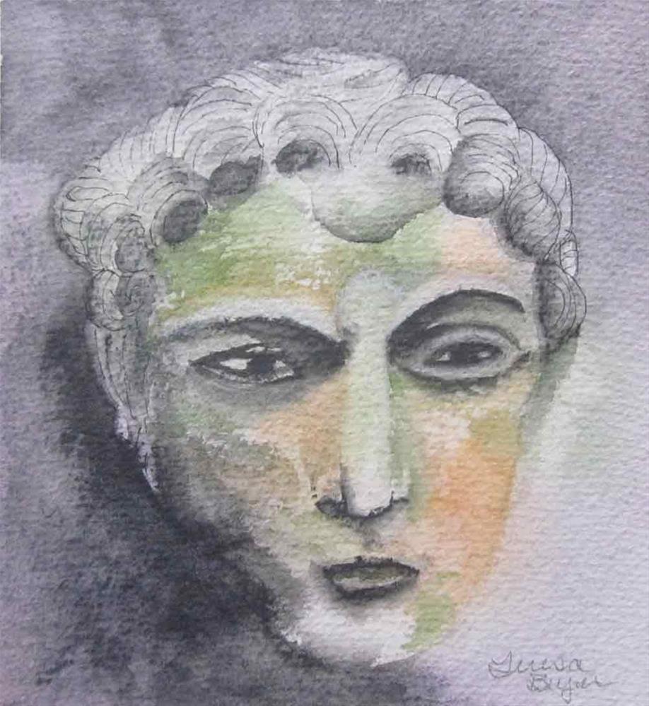 """Mask II"" original fine art by Teresa Beyer"