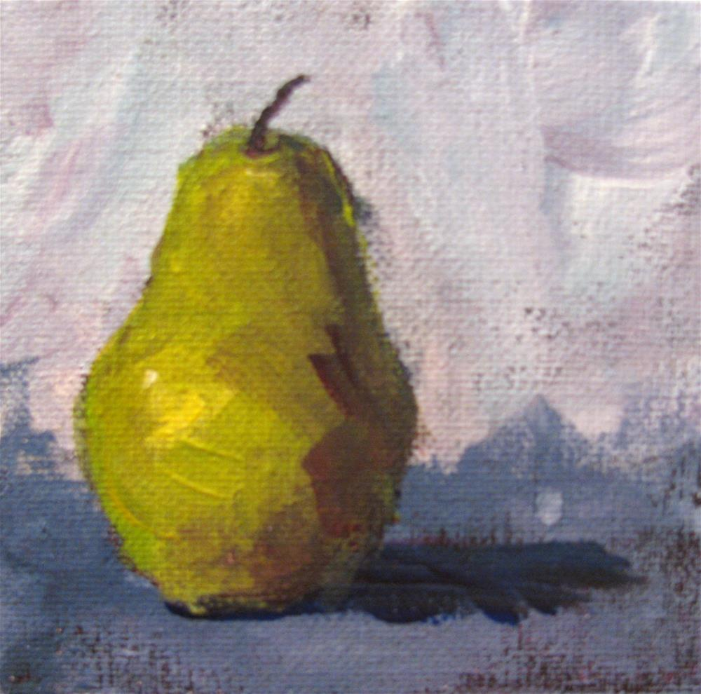 """Pretty Pear"" original fine art by Susan Elizabeth Jones"