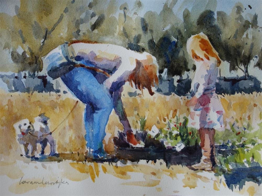 """Potplants"" original fine art by Lorraine Lewitzka"
