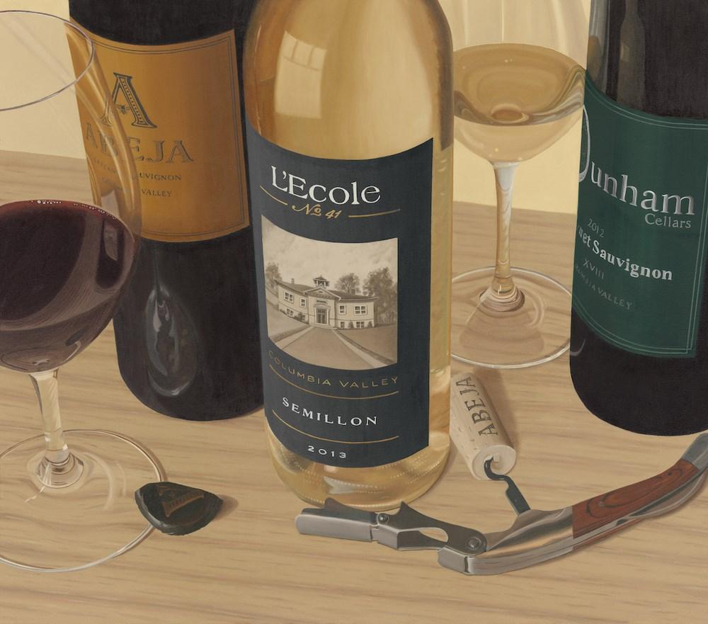 """Walla Walla Wines"" original fine art by Susan Fern"