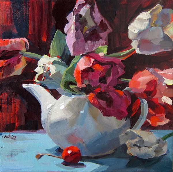 """Summer Tulips"" original fine art by Patti Mollica"