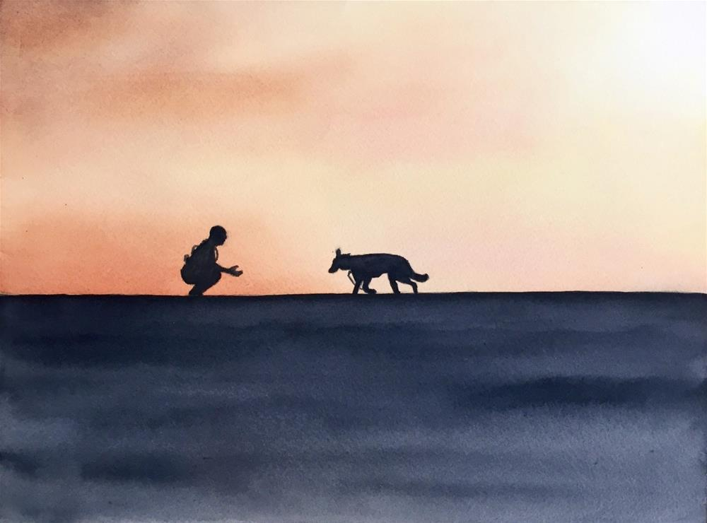 """Good Boy"" original fine art by Melissa Gresham"
