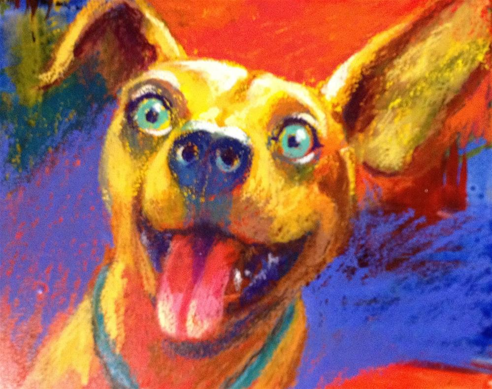 """Why Is This Dog Smiling?"" original fine art by Jeff Leedy"
