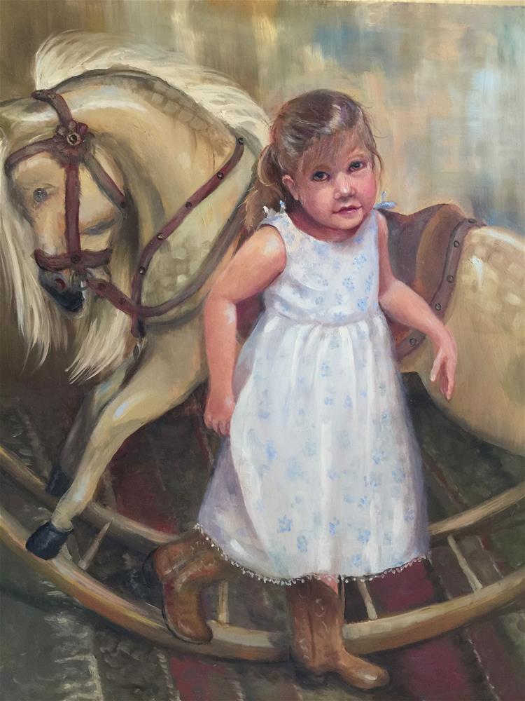 """Magnolia's Last Ride"" original fine art by Linda Dunbar"