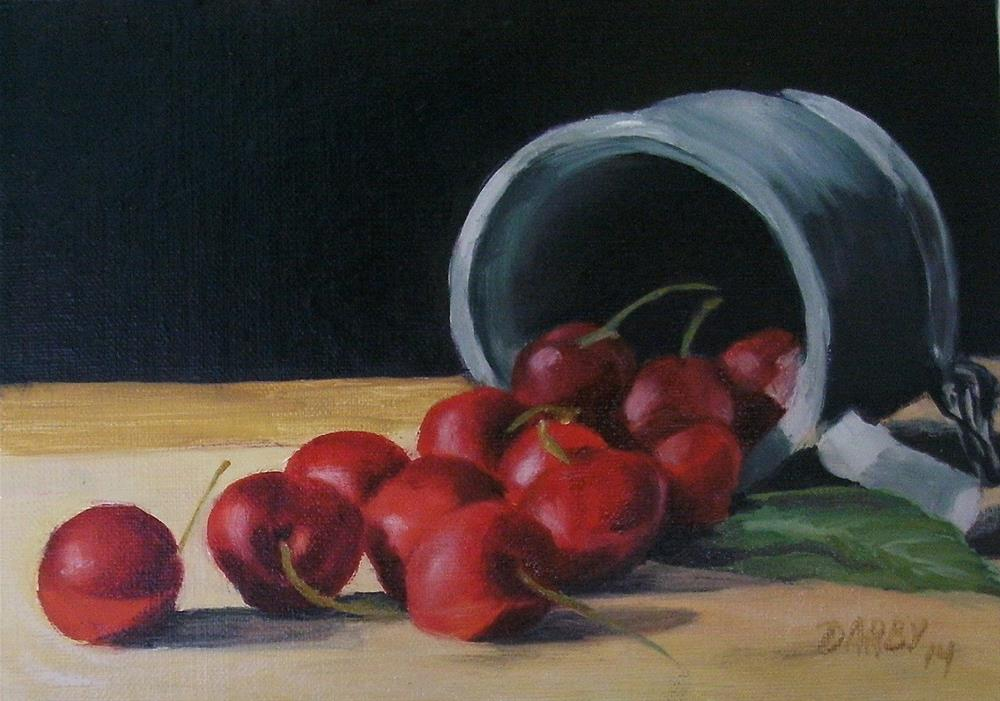 """Cherries"" original fine art by Lynn Darby"