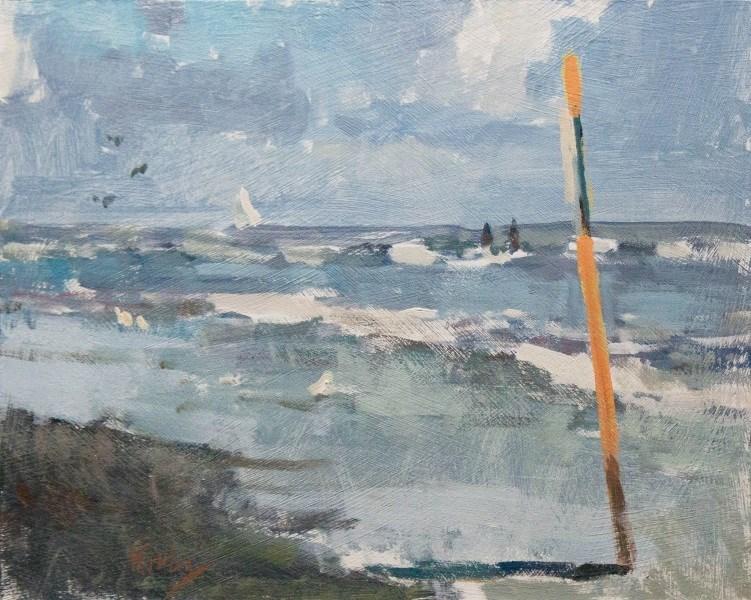 """North Sail"" original fine art by Randall Cogburn"