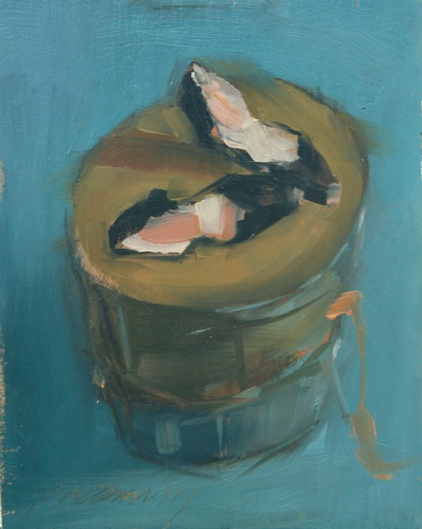 """Slippers Sketch"" original fine art by Patricia Canney"