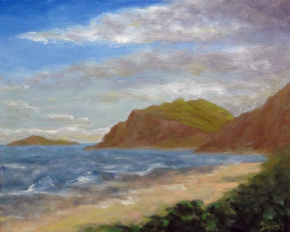 """Bellows Beach Hawaii"" original fine art by Dalan Wells"