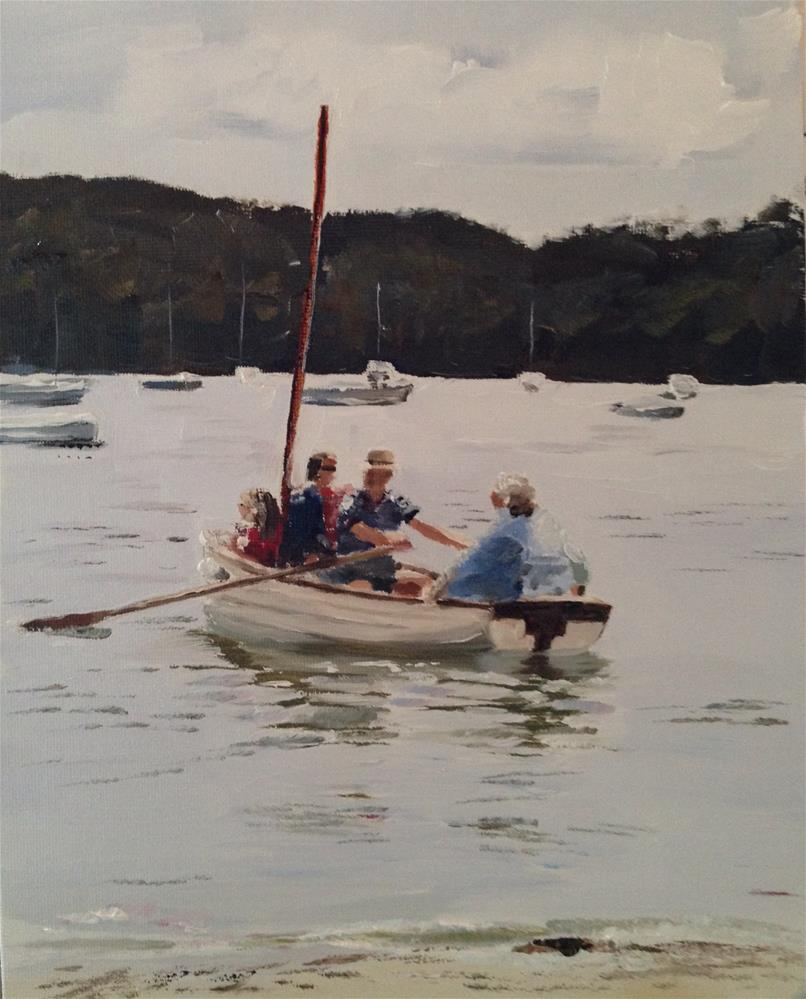 """A Day on the River"" original fine art by James Coates"