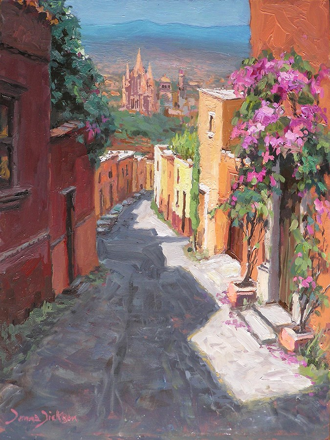 """Montes de Oca"" original fine art by Donna Dickson"