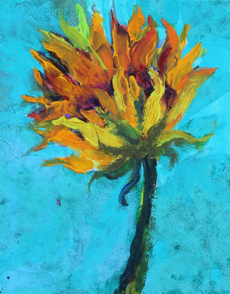 """Sunflower, Contemporary Floral Paintings by Amy Whitehouse"" original fine art by Amy Whitehouse"