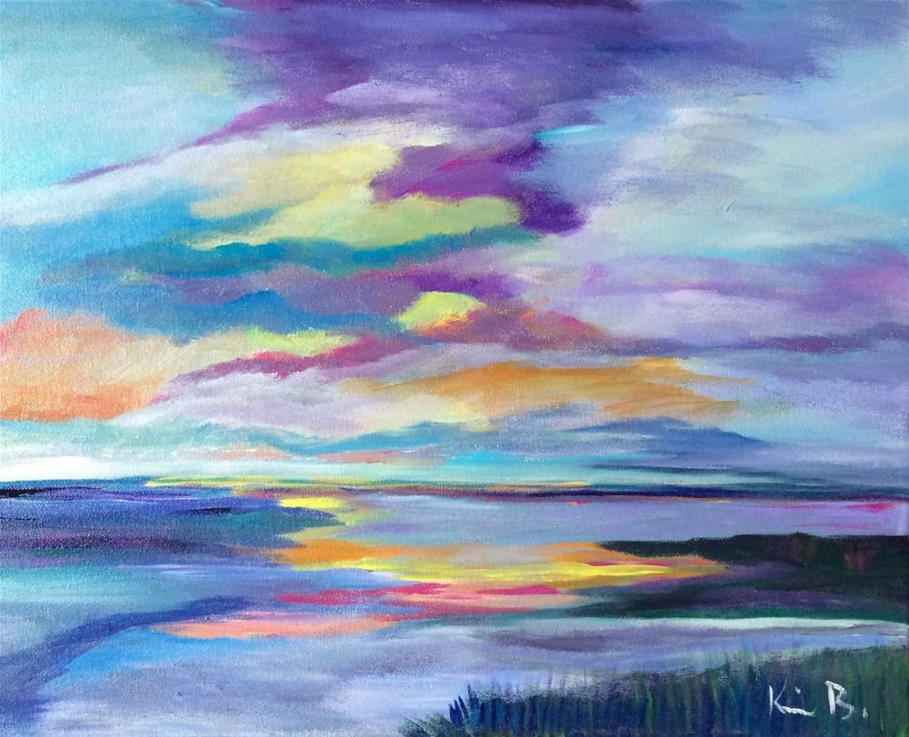 """Sunset in the Marsh"" original fine art by Kimberly Balentine"