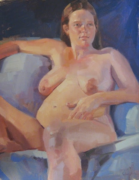 """My First Pregnant Model"" original fine art by Sarah Sedwick"