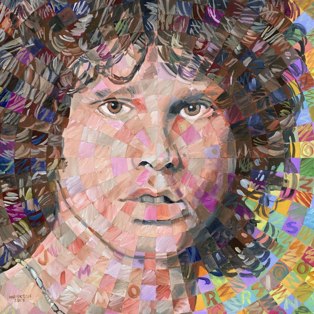 """Jim Morrison"" original fine art by Randal Huiskens"
