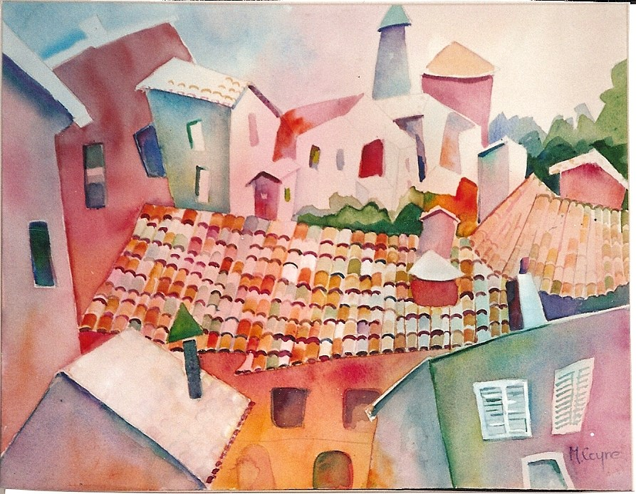 """florence"" original fine art by meribeth coyne"