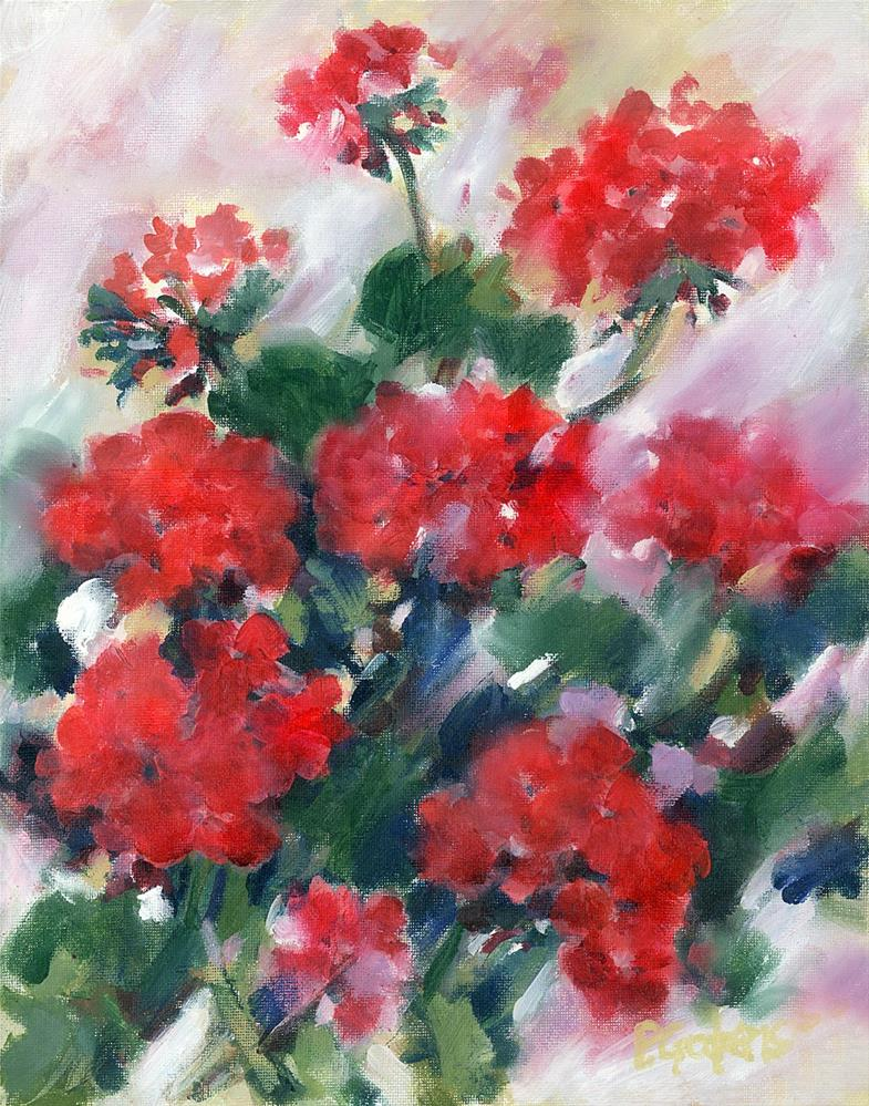 """Renee's Reds"" original fine art by Pamela Gatens"