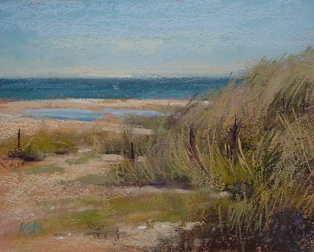 """The Beaches of Normandy ...Impressions of France part 7"" original fine art by Karen Margulis"