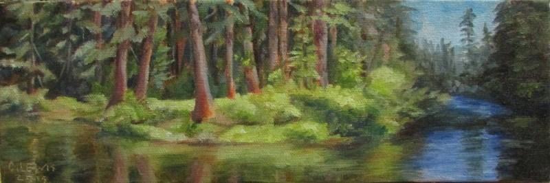 """River Bend"" original fine art by Christine Lewis"