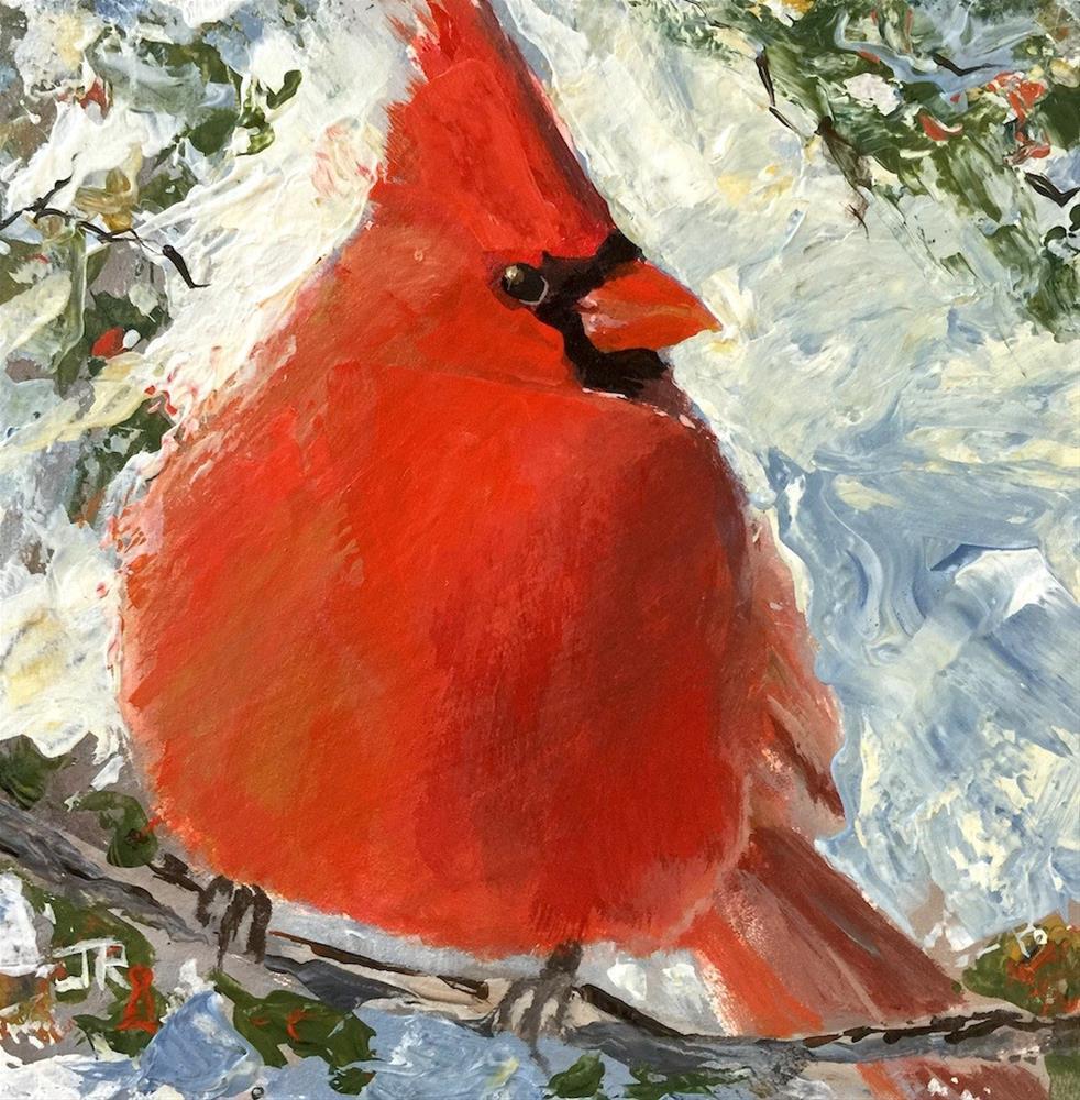 """Big Red"" original fine art by June Rollins"