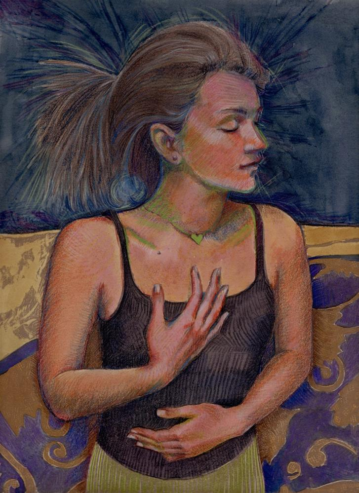 """Sleep"" original fine art by Belinda Del Pesco"