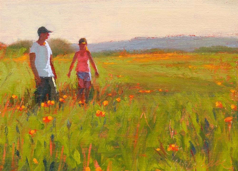 """""""#35 Poppy Walk"""" original fine art by Nancy Wallace"""