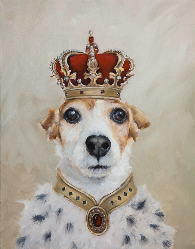 """King Jazzy"" original fine art by Clair Hartmann"