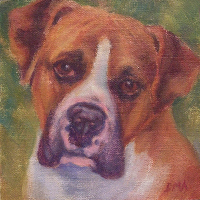 """Brown Eyes"" original fine art by Debra Ames"